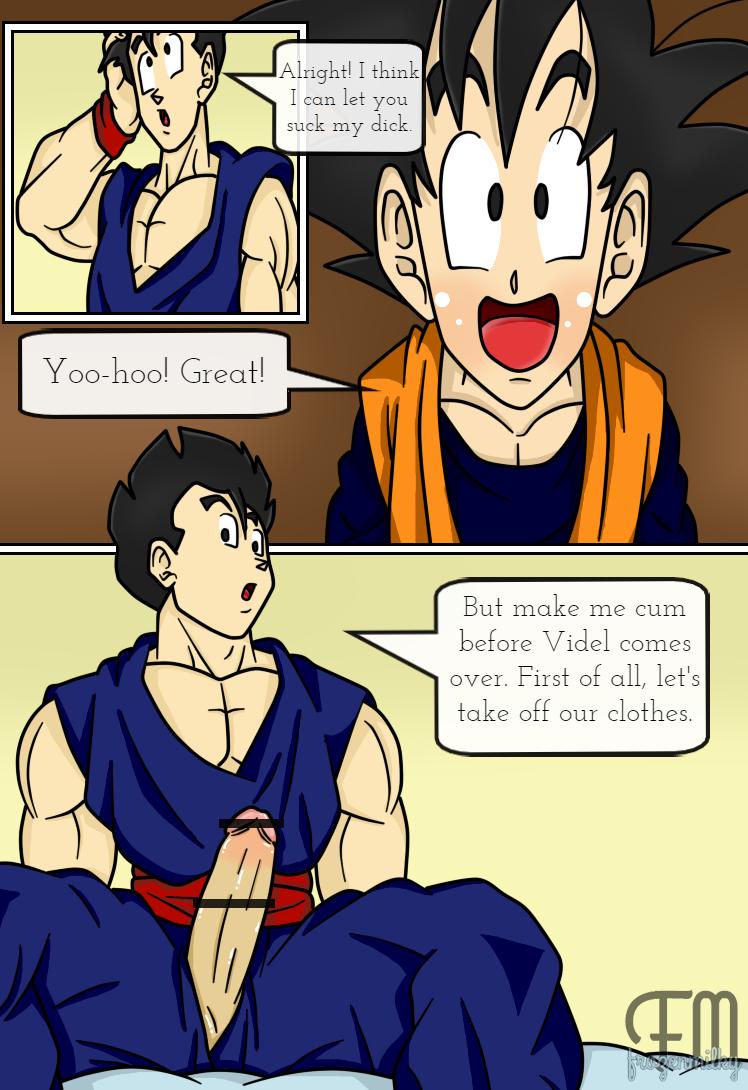 Comic - Goten gives Gohan a blowjob