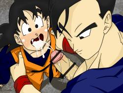 Gohan Goten - Blowjob Before Fighting!